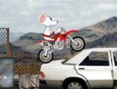 Cascadeur À Moto De La Souris