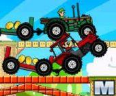 Mario Tracteur Drag Race