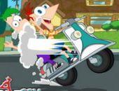 Phineas Et Ferb Fou Moto en ligne bon jeu